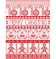 Tall Merry xmas pattern with gingerbread man xmas