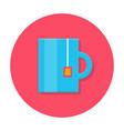 Tea mug flat icon vector image