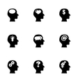 thoughts icon set vector image vector image