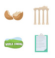 tourism travel ecology and other web icon in vector image vector image