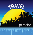 travel with people silhouette vector image
