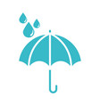 umbrella water drops rain protection nature liquid vector image