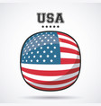 usa flag patriotism symbol icon design vector image