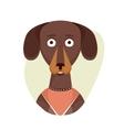 Cartoon cute dachshund dog Isolated objects on vector image