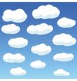 vector clouds vector image