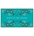 invite to the wedding vector image