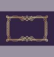 art deco border golden decorative luxury vintage vector image