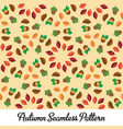 autumn seamless design pattern vector image