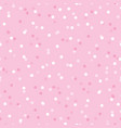 baby girl pink confetti dots seamless pattern vector image