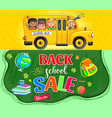 back to school promotion poster vector image vector image