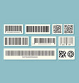 barcode labels qr identification sale vector image