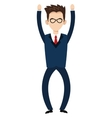 businessman with raised hands icon vector image vector image