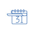 calendar with list line icon concept calendar vector image