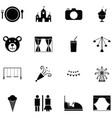 carnival icon set vector image vector image