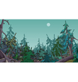 cartoon dense coniferous forest vector image vector image