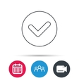Check confirm icon Tick in circle sign vector image vector image