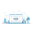 city park - modern thin line design style vector image vector image