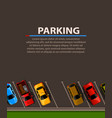 city parking web banner shortage parking vector image