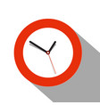 clock flat icon on white background vector image vector image
