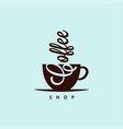 coffee cup logo sign coffee shop vector image vector image