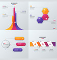 collection templates for infographics vector image vector image
