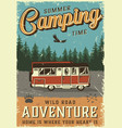 colorful summer adventure poster vector image