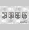 countdown timer on a isolated background vector image vector image
