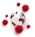 covid19 19 epidemic concept coronavirus molecules vector image vector image
