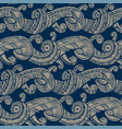 decorative sea waves medieval style pattern vector image vector image