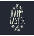 easter grunge calligraphic design vector image