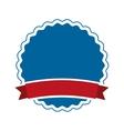 elegant badge isolated icon design vector image