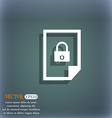file locked icon sign On the blue-green abstract vector image