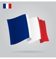 Flat and waving French Flag vector image vector image