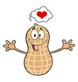 Funny Inlove Peanut Cartoon vector image vector image