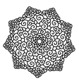 Hand drawn monochrome star Mandala isolated on vector image vector image