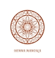 Henna Color Mandala over white vector image vector image