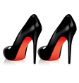 high heel shoes vector image vector image