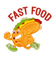 hot dog fast food vector image