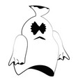 isolated cute ghost vector image vector image