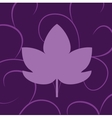 leaf of grape violet vector image vector image