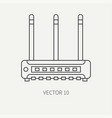 line flat computer part icon wireless vector image