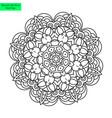 mandala flower pretty vector image vector image