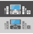 Modern Home Cinema Entertainment with two color vector image vector image