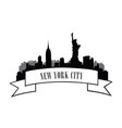 nyc cityscape urban city skyline travel usa vector image vector image