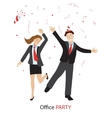 Office party line style vector image vector image