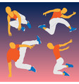 parkour figure flat elements vector image vector image