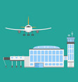 Plane airport transport symbols flat design