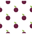 Plum icon cartoon Singe fruit icon vector image