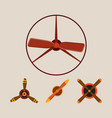 propeller fan wind ventilator equipment air vector image vector image