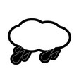 rainy weather vector image vector image